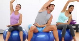 Group Exercising on Medicine Balls