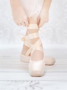 Ballerina's Hands Tying Pointed Shoe Copy 1