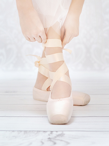 Ballerina's Hands Tying Pointed Shoe Copy 1
