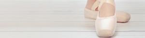 Ballerina Shoes on White Wooden Floor