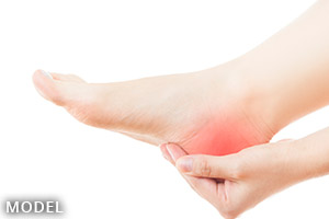 Bare foot with heel pain
