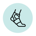 Medical brace icon