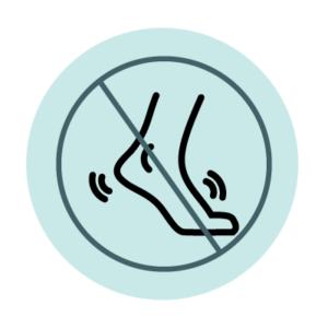 No foot use icon