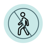 No walking icon