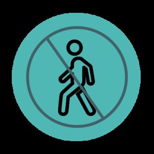 No walking icon